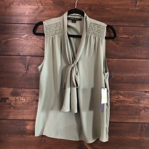 Cynthia Steffe Aloe Green Blouse Size Medium NWT
